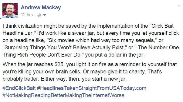 Facebook Post: The ClickBait Swear Jar